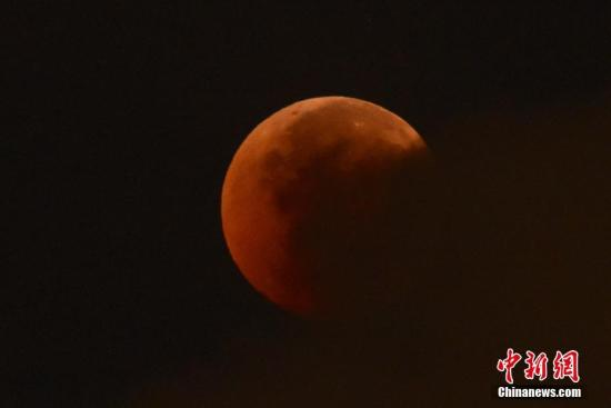 """""""超级血狼月""""将现夜空 美欧多地均可观测(图)"""