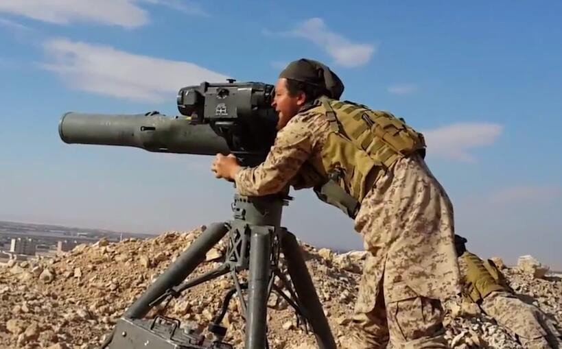 俄军在叙发现武装分子军火库 藏有美制先进导弹