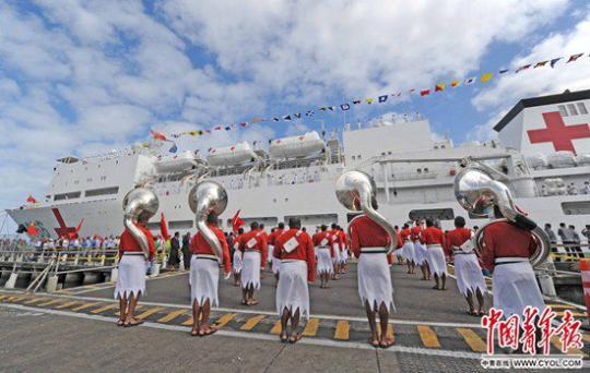 """海军""""大白船"""" 它为中国代言"""