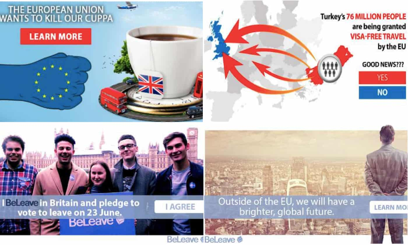 一神秘组织过去一周花3万英镑在脸书打广告:支持英国脱欧