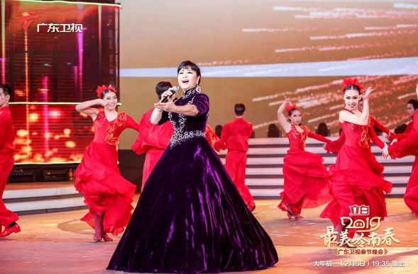 星耀嶺南 | 殷秀梅助陣廣東衛視春晚,震撼歌聲點燃全場