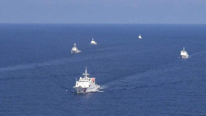 中国海警巡航钓鱼岛领海!