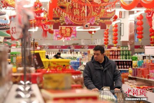 资料图:消费者正在置办年货。<a target='_blank' href='http://www.chinanews.com/'>中新社</a>记者 余瑞冬 摄