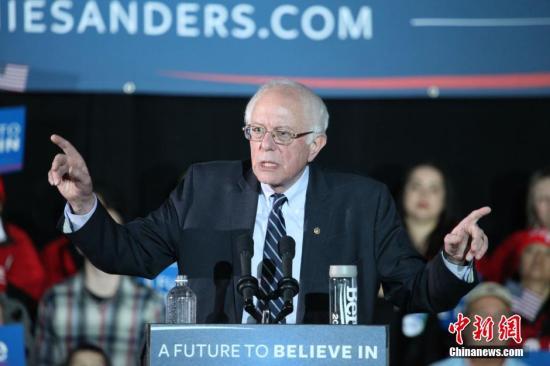 美國民主黨參議員桑德斯宣布角逐2020年總統大選