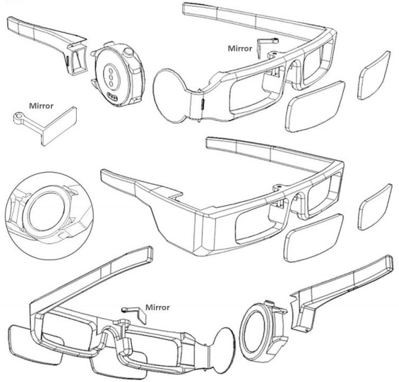 华为AR眼镜架新专利曝光:需嵌入智能手表