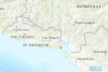 洪都拉斯西南部发生5.3级地震 震源深度195.1千米