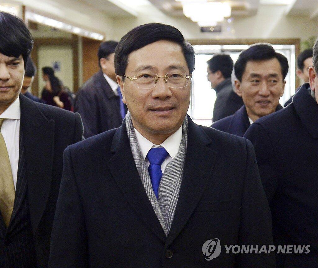 朝中社称越南副总理兼外长范平明12日抵达平壤