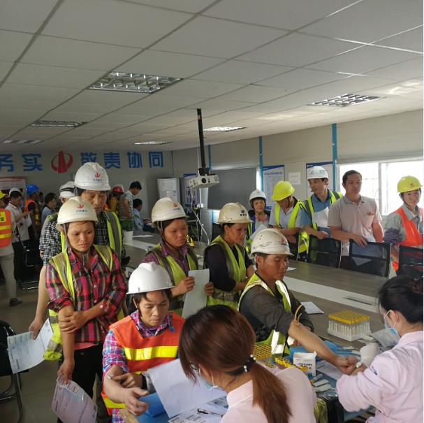 碧桂园惠博区域开展建筑工人健康关怀活动