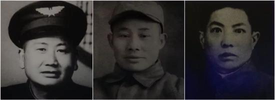 参加飞夺泸定桥的22名勇士其中三位(左起:李友林、刘金山、刘梓华)