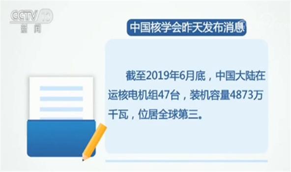 中國大陸在運核電機組47臺 居全球第三