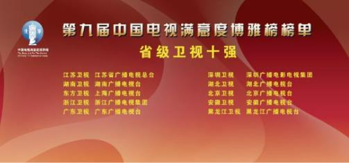 第九届中国电视满意度博雅榜榜单发布