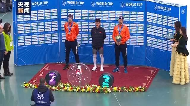 破紀錄創歷史!寧忠巖速度滑冰世界杯1500米奪金