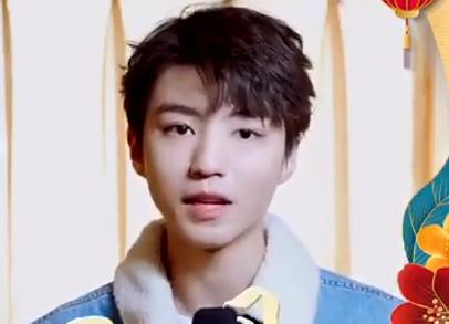 青年演員王俊凱給廣東綜藝4K頻道觀眾拜年