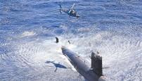 南海舰队潜艇与直升机陌生海域实战化训练(图)