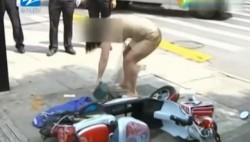 女子骑车逆行被罚 对交警大喊