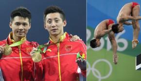 里约奥运会-林跃/陈艾森夺得跳水男子双人10米板冠军
