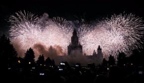 莫斯科举办国际灯光节