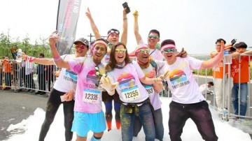 色彩与活力的碰撞 彩色跑12月与你相约二沙岛