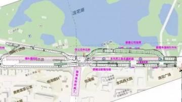 本月9日开始,东风西路东往西部分车道围蔽施工