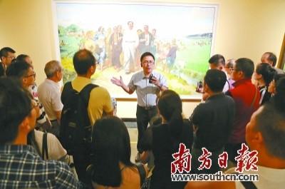 广东美术百年大展观众数破8万 台风天依然热情高
