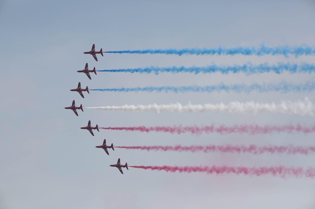 【直击珠海航展】英国红箭表演队T1鹰式教练机