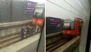 重庆一号线现惊人一幕:男子跳轨逼停地铁